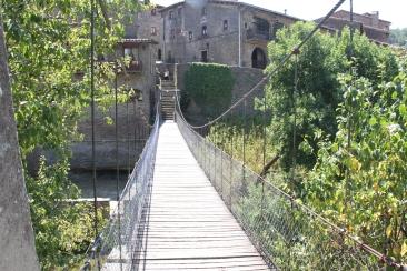 L'actual pont penjat de Rupit.